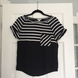 New Black and White Caslon Top